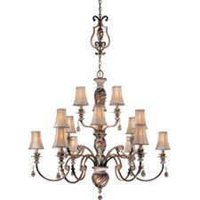Aston Court Fifteen Light Chandelier with Optional Ceiling Medallion