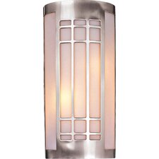 1 Light Wall Sconce with Etched Opal Glass