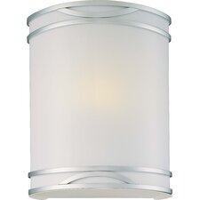 1 Light Wall Sconce with Etched Glass