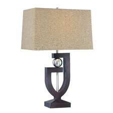 "30.5"" H Table Lamp with Rectangular Shade"