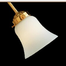 "2.25"" Neck Etched Opal Bell Glass Shade"