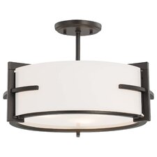 Fieldale Lodge 3 Light Semi-Flush Mount