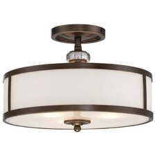 <strong>Minka Lavery</strong> Thorndale 3 Light Semi-Flush Mount