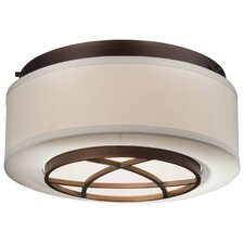 City Club 2 Light Flush Mount