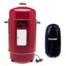 The Gourmet Electric Smoker & Grill with Vinyl Cover