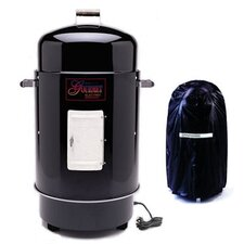 Gourmet Electric Smoker & Grill with Vinyl Cover