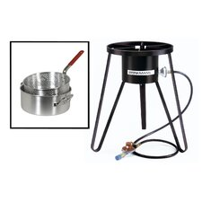 All Purpose Gas Outdoor Stove with Pan and Basket