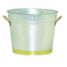 4 Quart Pail with Brass Trim