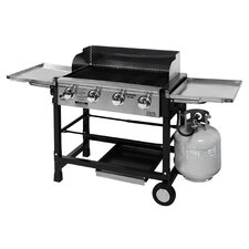 Portable Tailgate Grill with Griddle Accessory