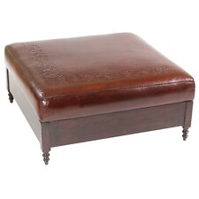 Super Jumbo Leather Cocktail Ottoman
