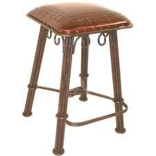 Classico Western Iron Barstool in Antique Brown