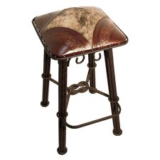 "Western Iron 26"" Bar Stool with Cushion"