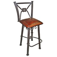 "Western Iron 38"" Bar Stool"
