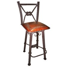 Western Iron Bar Stool with Cushion