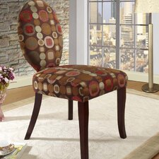 <strong>InRoom Designs</strong> Circle Slipper Fabric Side Chair