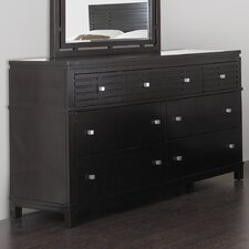 <strong>InRoom Designs</strong> Cabo 7 Drawer Double Dresser
