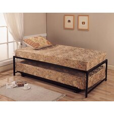 <strong>InRoom Designs</strong> Victor Twin Platform Hi Riser Bed with Pop Up Trundle