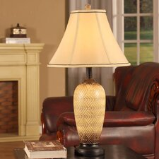 "27"" H Table Lamp with Trim Bell Shade with Empire Shade (Set of 2)"