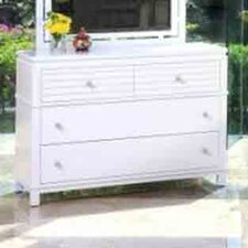 <strong>InRoom Designs</strong> Cabo 4 Drawer Dresser