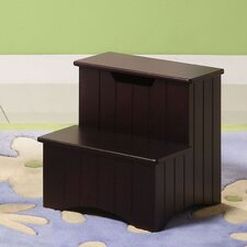 <strong>InRoom Designs</strong> Wood Veneer Storage Step Stool