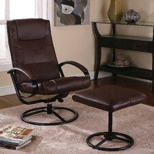 <strong>InRoom Designs</strong> Two Toned Relax Reclining Chair and Ottoman