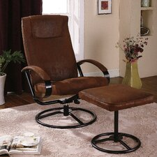 <strong>InRoom Designs</strong> Relax Reclining Chair and Ottoman