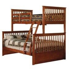 William Twin Over Full Bunk Bed in Esprit Walnut