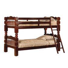 InRoom Twin Bunk Bed with Built-In Ladder