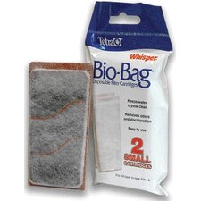 Small Whisper Assembly Bio-Bag Cart Filter Cartridges in White - 2 Pack