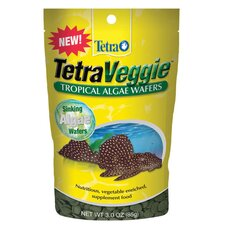 Tetraveggie Algae Wafers Pouch Fish Food - 3 oz.