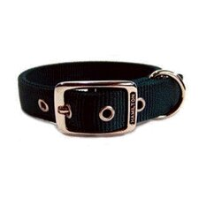 Double Thick Nylon Deluxe Dog Collar in Hunter Green