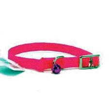 Braided Safety Cat Collar in Hot Pink