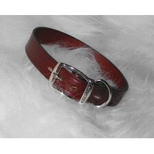 Creased Leather Collar in Burgundy