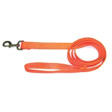 Single Thick Nylon Lead with Snap in Orange