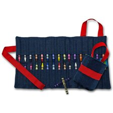 Doodlebugz Crayola Crayon Keeper in Denim / Red
