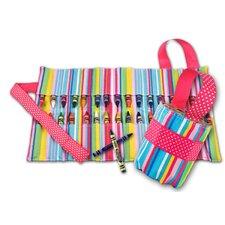 Doodlebugz Crayola Crayon Keeper in Pink Stripe