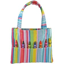 <strong>Princess Linens</strong> Doodlebugz Crayola Crayon Purse in Pink Stripe