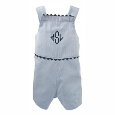 The Hamptons Pinstripe Shortall in Blue with Navy Trim