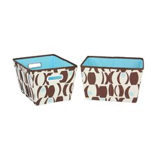 2 Piece Small Geo Print Bins Set