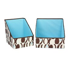 2 Piece Large Geo Print Accessory Bins Set