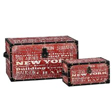 2 Piece New York Design Trunk Set (Large & Small)