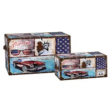 2 Piece Car Design Trunk Set (Jumbo & Medium)