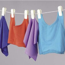 Clothesline with 6 Jumbo Clips