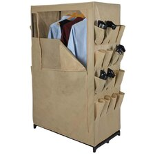Storage and Organization Wardrobe with Two Sides Pockets in Khaki