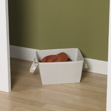 "Storage and Organization 7.5"" Small Tapered Bin with Cloth Handles"