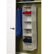Storage and Organization Six Shelf Organizer with Shelves in Natural