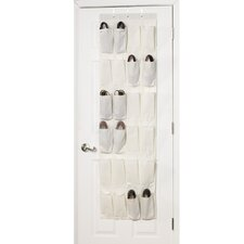 <strong>Household Essentials</strong> Storage and Organization 24 Pocket Over the Door Shoe Organizer