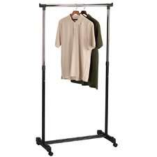 Storage and Organization Basic Adjustable Garment Rack in Chrome/Black
