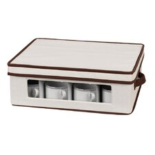 <strong>Household Essentials</strong> Storage and Organization Cup Chest Canvas with Trim