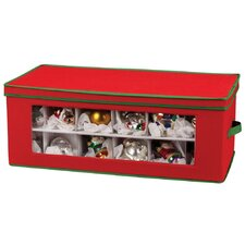 Storage and Organization 36 Piece Holiday Ornament Chest in Red